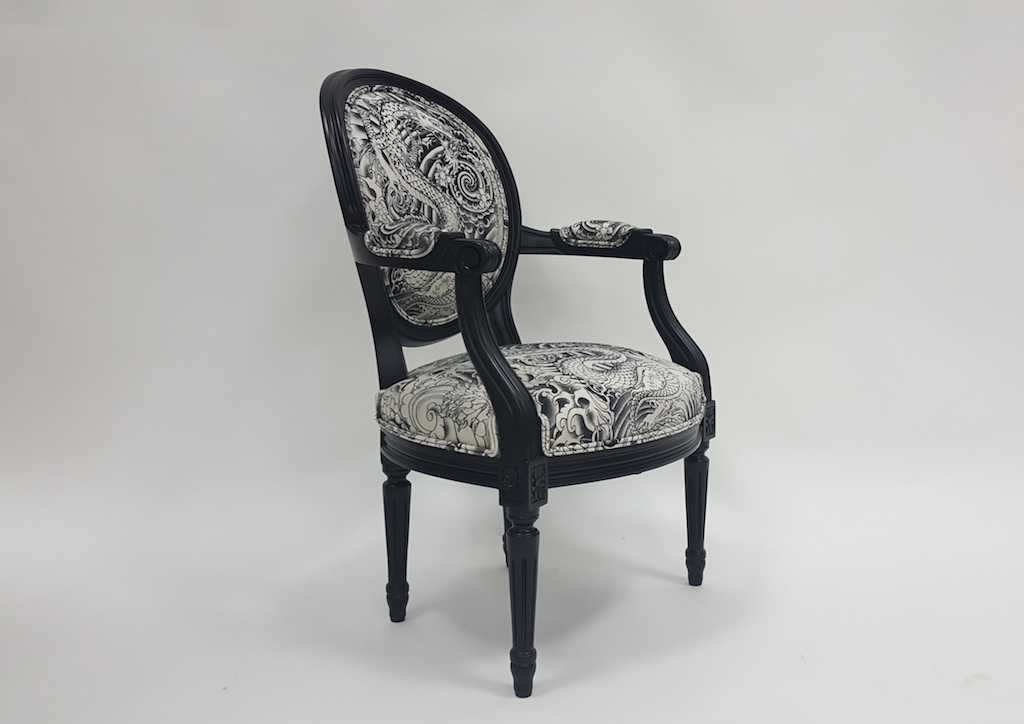 fauteuil louis xvi m daillon enfant les beaux si ges de. Black Bedroom Furniture Sets. Home Design Ideas