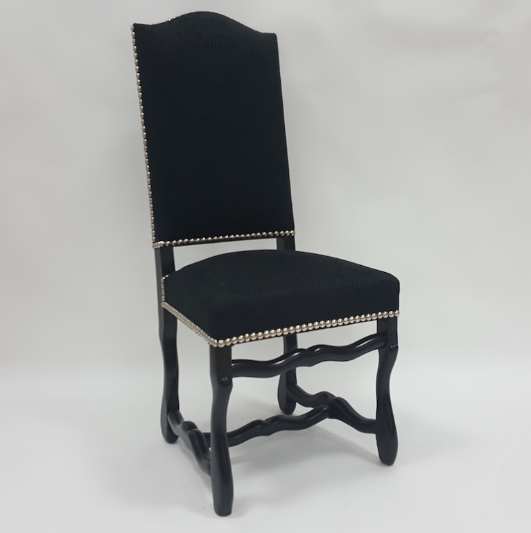 chaise louis xiii os de mouton dos recouvert les beaux si ges de france. Black Bedroom Furniture Sets. Home Design Ideas