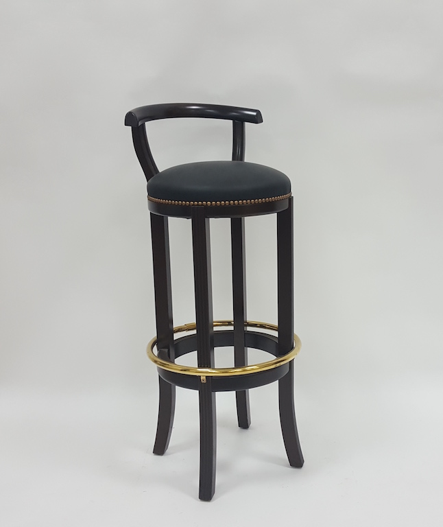 tabouret de bar retro a dossier cerclage laiton les. Black Bedroom Furniture Sets. Home Design Ideas